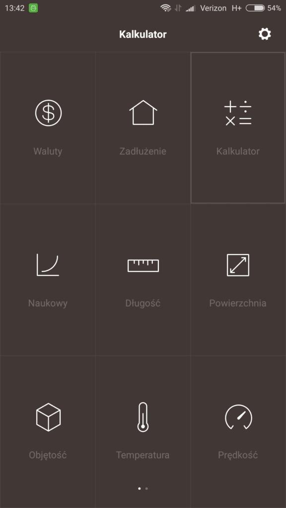 Xiaomi калькулятар