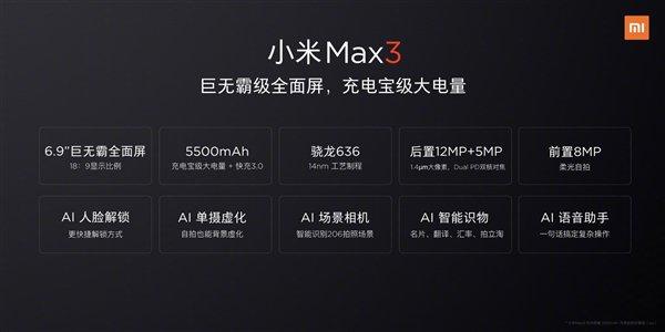 Xiaomi-Mi-Max-3-specifikace-Oficiálně potvrzenou
