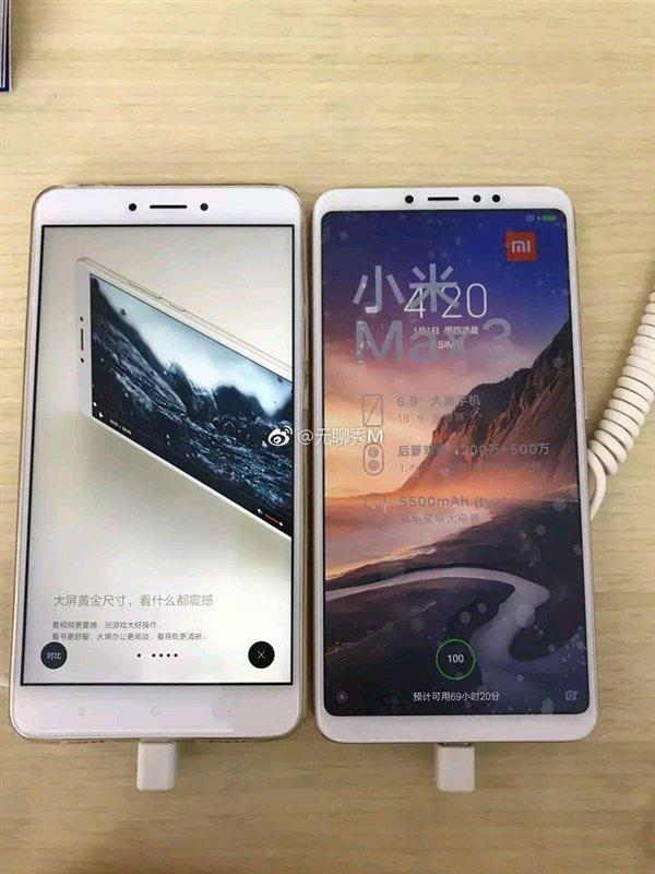 Xiaomi Mi Maks 3 va boshqalar Ma Maks 2