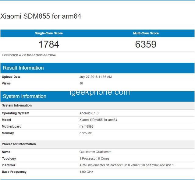 Misterioso smartphone Xiaomi con tripla lente e Snapdragon 855