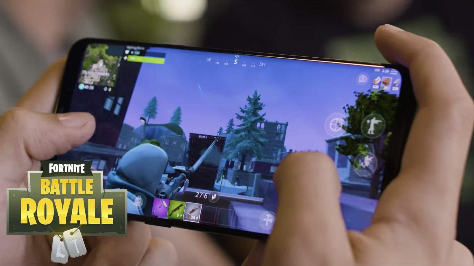 Android'de Fornite