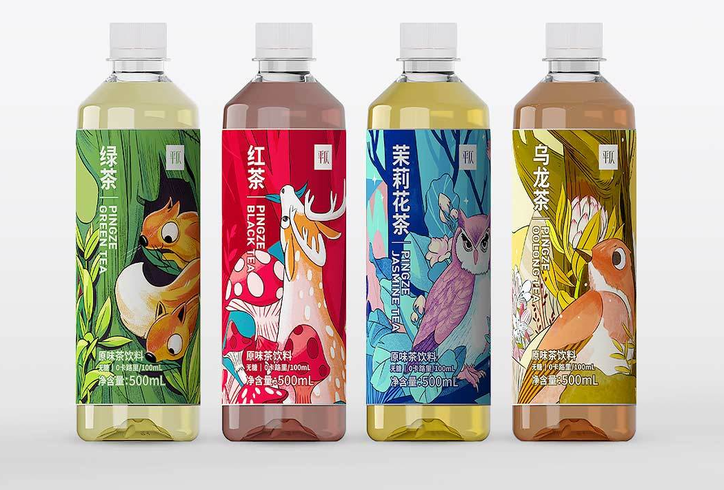 A tea drink from Xiaomi in four flavors