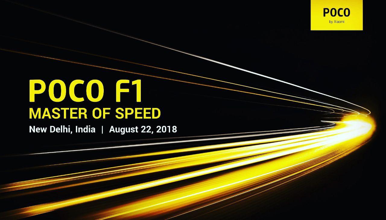 小米Pocophone F1将于8月在印度22上映