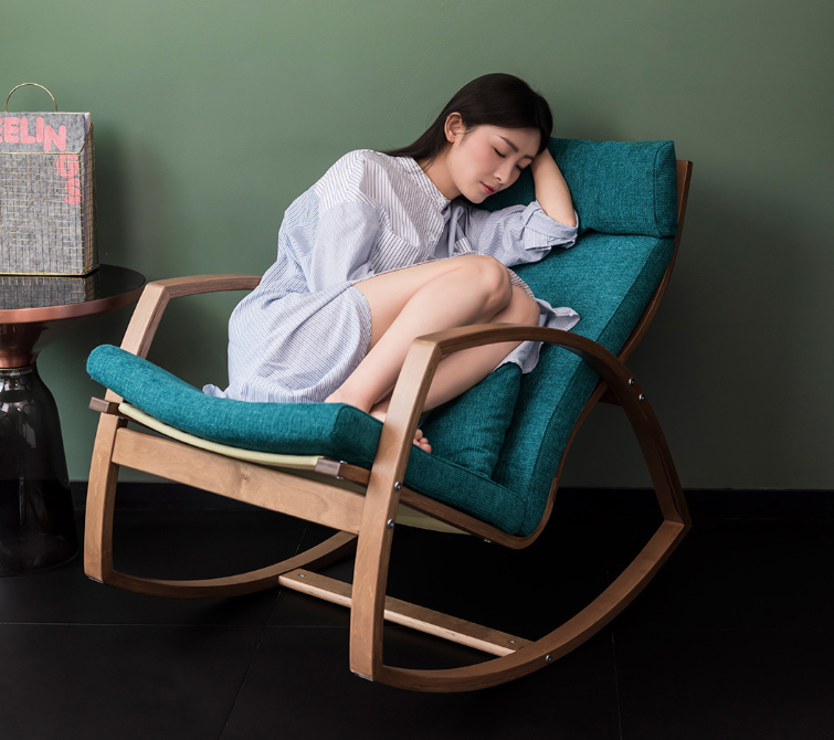 Rocking chair made of birch wood - HYGGE