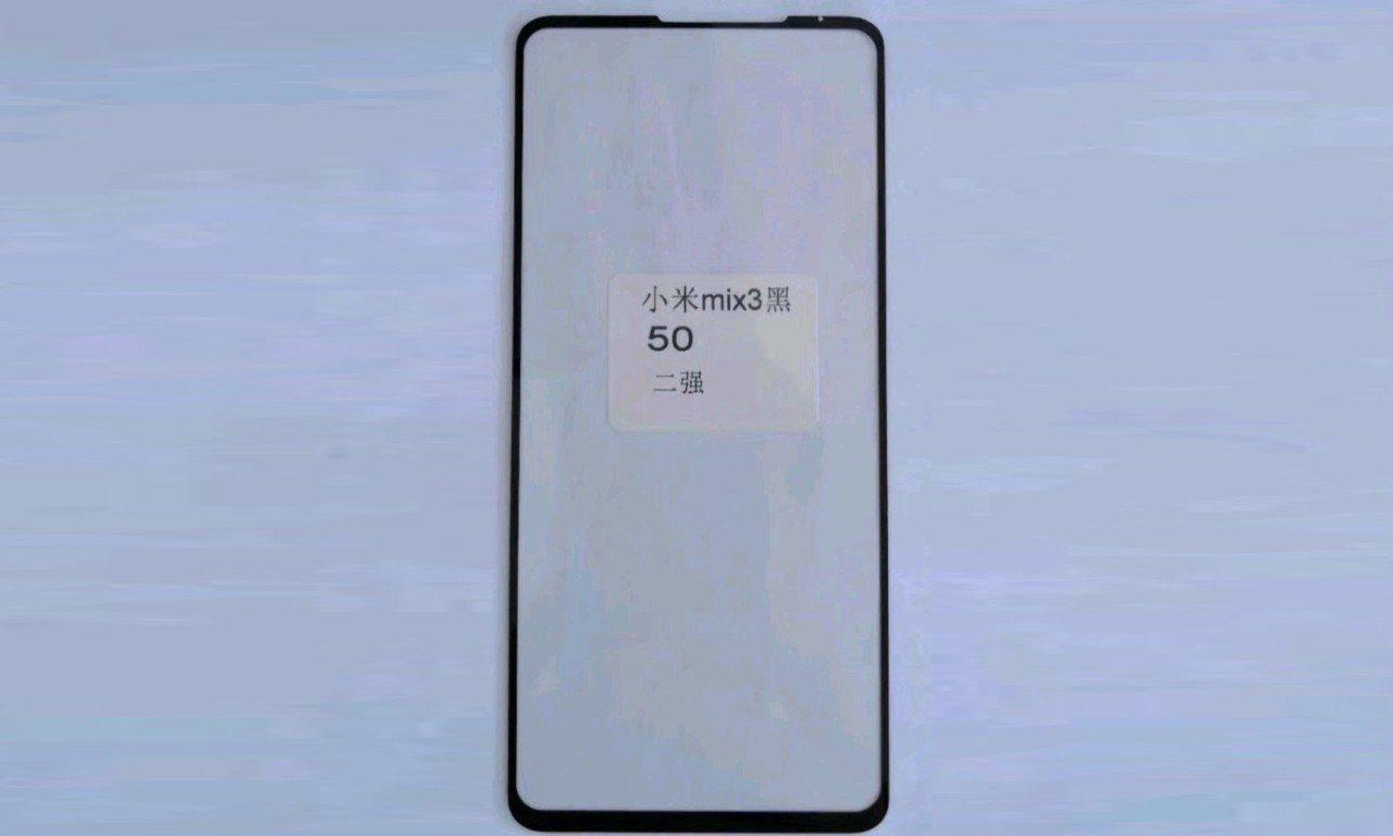 Tela Xiaomi Mi Mix 3 notado na foto