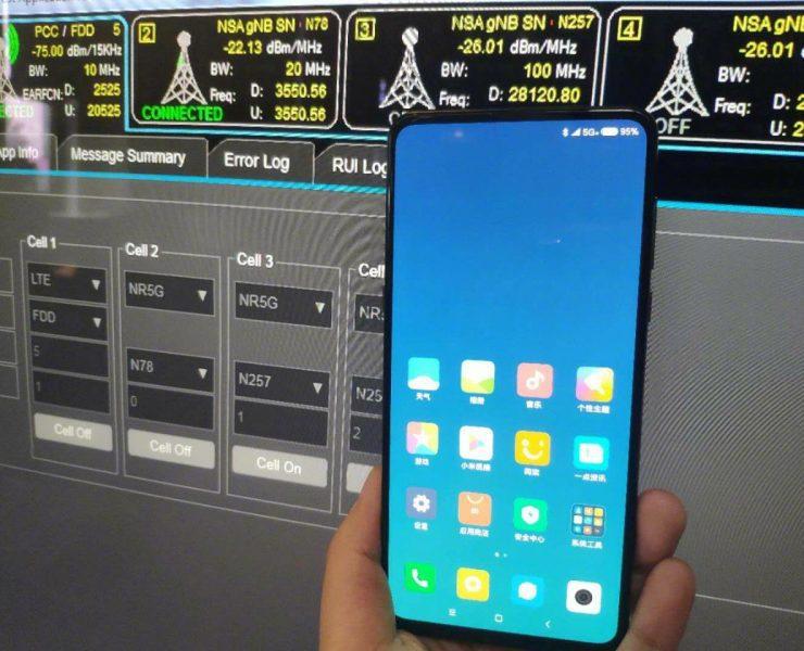 Xiaomi Mi Mix 3 działanie slidera przedstawione w filmie
