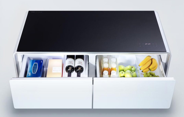 smart xiaomi yunmi tisch mit eingebautem k hlschrank. Black Bedroom Furniture Sets. Home Design Ideas