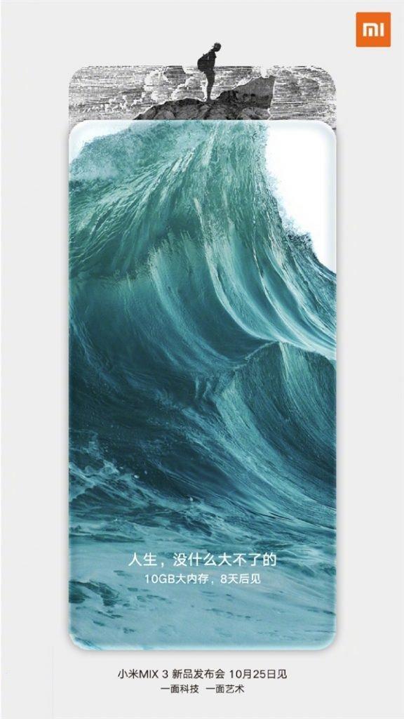 Xiaomi Mi Mix 3 will have 10 GB RAM