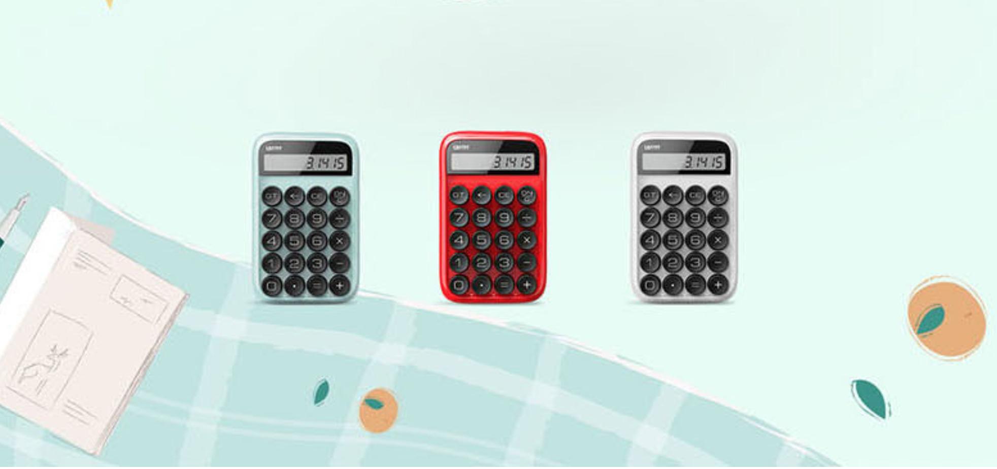 Calculadora LOFREE con botones mecánicos.