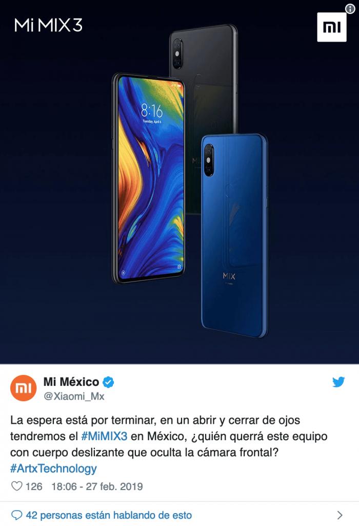 Mi Mix 3 już niedługo w Meksyku