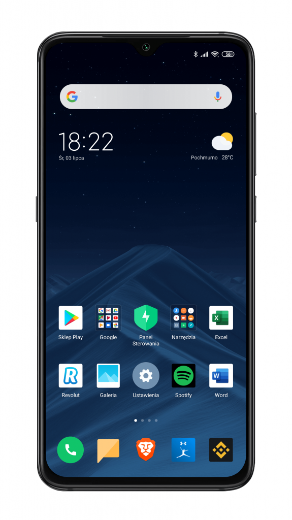 Xiaomi MIUI launcher systemowy