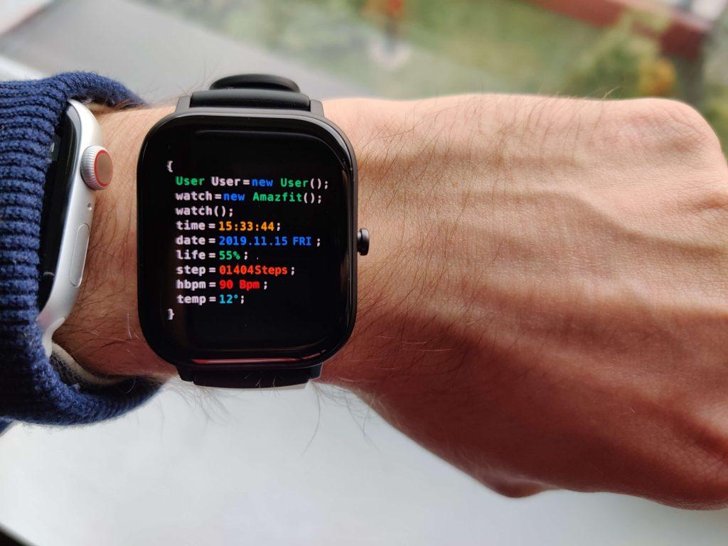 Amazfit GTS tarcza dla programisty
