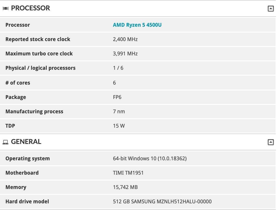 RedmiBook AMD Ryzen