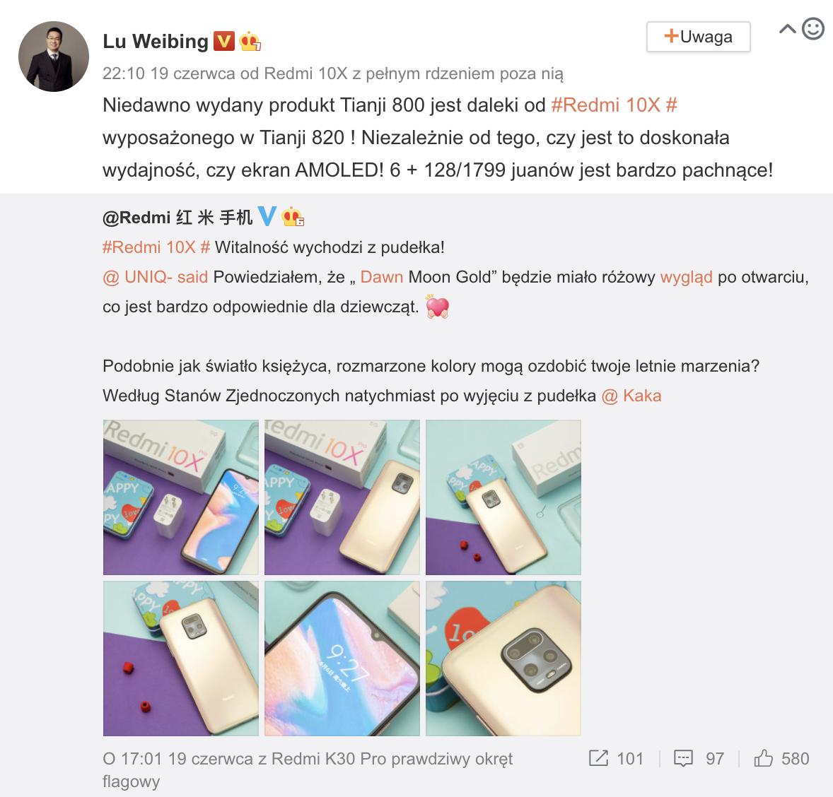Lu Weibing krytykuje Huawei