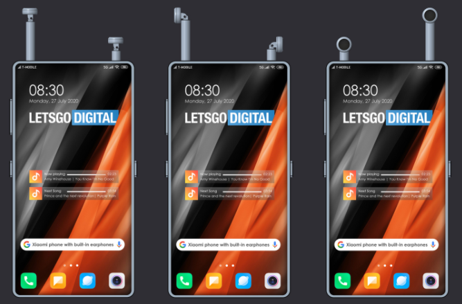 Xiaomi headphones inside phone