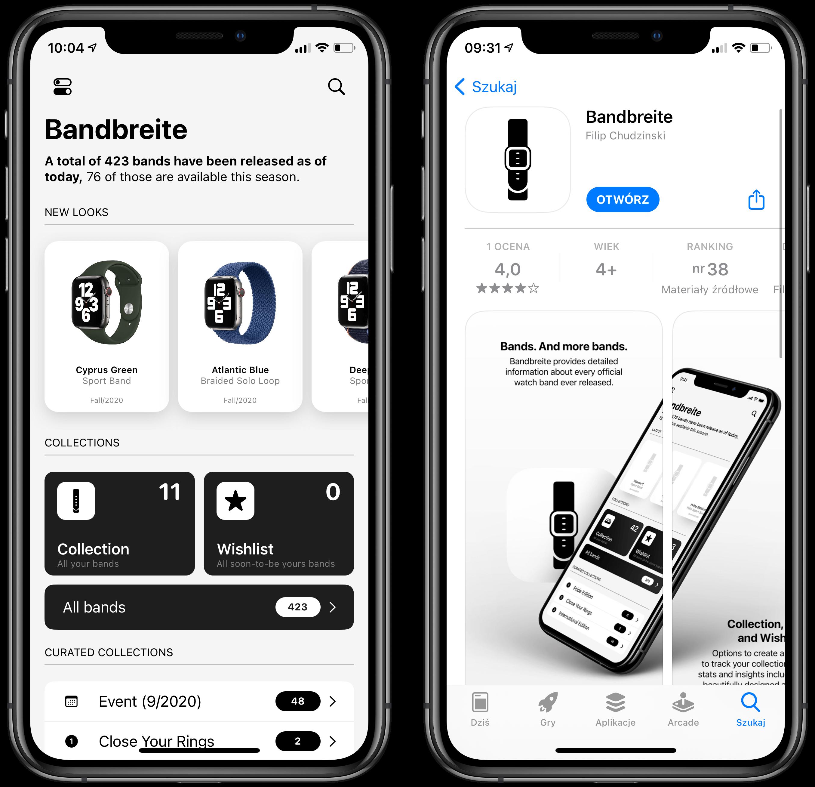 Apple Watch bandbreite